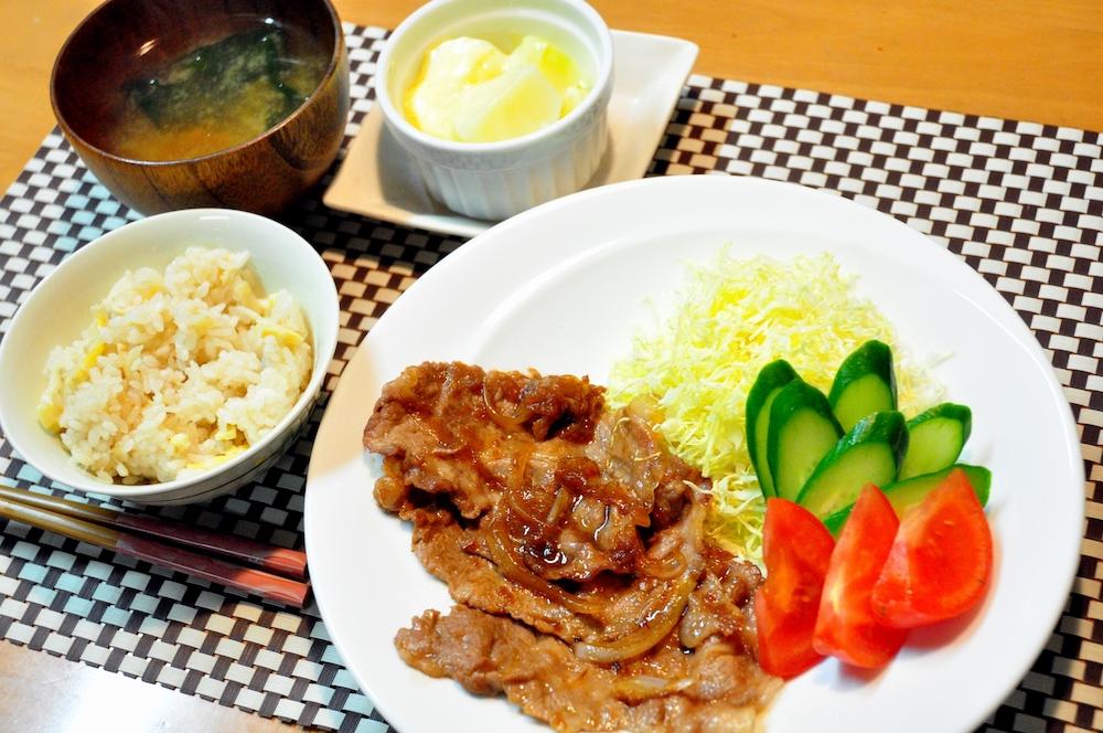 Recette japonaise du porc au gingembre, shougayaki